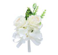 Coreano floreale artificiale spilla peonia fiore spilla versione coreana della spilla da uomo e della spilla da donna lungo ago da sposa boutonniere