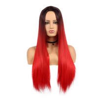 Synthetic Ombre Wigs for Women Long Natural Silky Straight B...