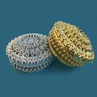 Luxus Goldenen Silber Schatztruhe Pralinenschachtel Hochzeit Gunsten Party Empfang Süßigkeiten Paket Party Supplies wen5036