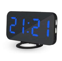 Mrosaa беспроводной электронный светодиодный цифровой будильник настольные украшения авто-яркость-регулировка будильника повтор Настольные часы с USB
