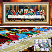 special shaped diamond painting last supper cross stitch emb...
