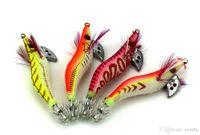HENGJIA Balıkçılık jig Lures SHRIMP cazibesi Ahşap Karides Balıkçılık Lures Kalamar Jig 8 CM 7.4G 2.0 # craw yem kerevit yem 20 adet