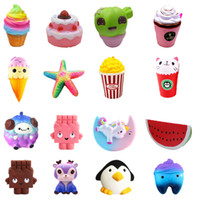 Squishy toy Strawberry Cake ice cream chocolate squishies Sl...
