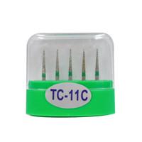 1 paquete (5 piezas) TC-11C Dental Diamond Burs Medium FG 1.6M para pieza de mano de alta velocidad dental Muchos modelos disponibles