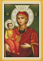 Мадонна ребенок 16 Иисус христианство декор картины, ручной вышивки крестом вышивка рукоделие наборы счетный печать на холсте DMC 14CT / 11CT