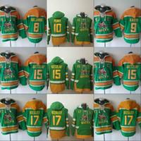 Mighty Ducks Hoodie Jersey 8 Teemu Sylanne 9 Paul Kariya 15 Ryan Getzlaf 10 Corey Perry 17 Ryan Kesler Sweatshirts Veste d'hiver