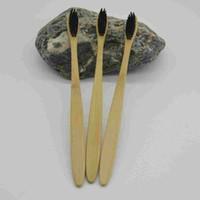 Экологическая Бамбуковый уголь Зубная щетка Уход за полостью рта Зубные щетки Eco Soft Nylon Capitellum Натуральная щетка для гостиничного путешествия