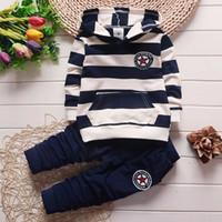Sueltas de ropa de niños de primavera niños niñas niñas chicas con capucha deportiva traje niños ropa para niños juego de chándals casual para niños