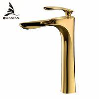 Смесители бассейна Elegant БВУ смесителя ванной кран горячей и холодной хромированная отделка латунь Туалет Раковина воды Кран Gold L220-2