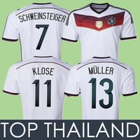 2019 2014 Germany World Cup Home Soccer Jerseys 4 Stars 14 15 Thai ... 5968143e7b135