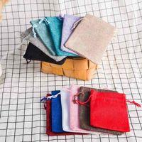 Новый (50 шт./лот) белье джут Drawstring подарочные пакеты мешки партия выступает упаковка мешок свадьба конфеты подарочные пакеты поставки