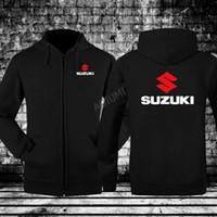 Yeni Stiller Uzun Kollu Baskı Hoodie Suzuki Kazak Siyah Kış Sonbahar Mont Erkek Moda Ceketler Için