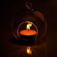 60мм романтический вися греющая свеча держатель стекло Глобус террариум свадебные свечи держатель подсвечник ВАЗа дома отель бар украшение