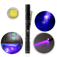 U`King Portable 395nm UV Mini LED Flashlight for Counterfeit...