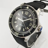 45mm Corgeut Green Black Dial Steel Case Green Luminous Miyo...