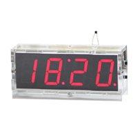 4 Digit LED DIY Электронные Digtal Будильник Kit Модуль Большой экран красный Practice Set LED