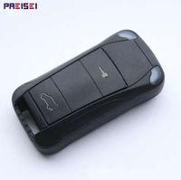 PREISEI 2 кнопки складной дистанционный ключ автомобиля оболочки замены для Porsche Cayenne Key Mondeo Festiva Fusion костюм Fiesta KA нет логотипа