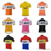 뜨거운 새로운 BIC 팀 사이클링 반팔 저지 MTB ROPA 남자 자전거 의류 여름 편안한 통기성 자전거 셔츠 S21021905