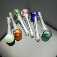 pipe balle ronde en verre en verre bongs brûleur à huile en verre pipe à eau huile fumante Rigs Rigs gratuit