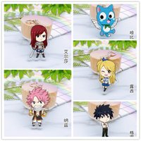 5pcs set Anime Keychain Fairy Tail Natsu Dragneel Lucy Heart...