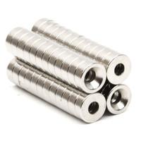 50 teile / satz Disc Mini 7,9x2,6mm mit Bohrung 3mm N52 Seltene Erden Starke Neodym Magnet Groß Super Starke Runde Form Magnete