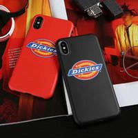 Pour IPhoneX Cas de Téléphone portable Shell Souple TPU Silicoone Couverture Arrière Marque Style Style Logement de la Peau pour IPhone X 8 7 6 s Plus