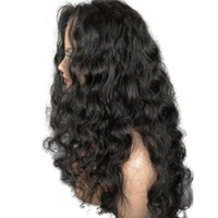 Black Body Wave Synthetic Lace Front Wigs with Baby Hair bro...