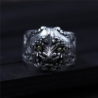 925 sterling silver ring Personality lion ring vintage beast...