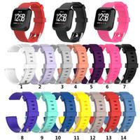 Для Fitbit Versa 2 1 Versa Lite Мягкий силиконовый TPE Замена полос часы браслет браслет диапазона носимого пояса ремень 20pcs / lot