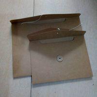 500 PCS Blank A4 A5 Kraft Paper Envelope Bag Organizador de archivos Bolsa de documentos Estilo horizontal