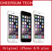 Original da Apple iPhone 6 6 mais Desbloqueado CellPhone 4,7 polegadas de 16GB / 64GB / 128GB A8 IOS 8.0 4G Sem toque ID Remodelado telefone Iphone 6 Plus