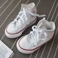 2018 New brand kids canvas shoes fashion high - low shoes bo...