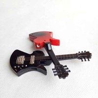 Briquets de guitare de guitare unique de coupe coupe-vent uniques Briquets à cigare à cigarettes rechargeables pour tuyaux de fumage Outils de cuisine