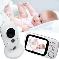 2018 Nouvelle arrivée wifi moniteur de bébé avec 3.2inch LCD Display, deux récepteur, Nightvision 720P vidéo bébé moniteur