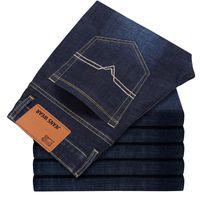 2018 CHOLYL Hombres de algodón rectos Jeans clásicos de primavera otoño pantalones de mezclilla masculinos guardapolvos diseñador hombres Jeans alta calidad tamaño 28-40