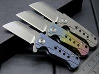 Small Razor Pocket Folding Knife S35VN Blade Titanium Blade ...