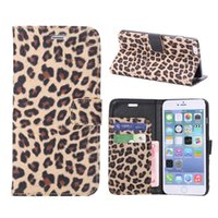 Sexy leopard print Leather Case For iPhone 7 Wallet Flip sta...
