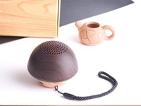 Innovative wooden mushroom shaped mini wireless speaker port...