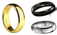 Movie Jewelry Le seigneur de la bague en acier inoxydable Fashion Bijoux Bague pour les hommes et les femmes le roi