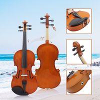O tamanho completo 4/4 de violino acústico elétrico baixo de Basswood com resina do arco do caso do violino amarra acessórios das cordas