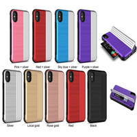 Card Slot Case For iPhone XS MAX XR X 7 8 6S 6S Plus Armor H...