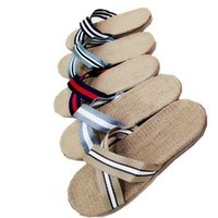 6f32bc22b14fe5 New Summer Style Loe EVA Flip-Flops Minimalist Cross Brand Slippers Flat  Casual Flax Sandals Toed Non-slip Soft Bottom Japanese Shoes