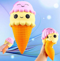 Ice Cream Cone Smile Jumbo Squishy Squishies Toy 10CM 16CM 1...