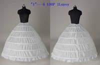 Nuovo stile 2020 Disponibile Plus Size abito di sfera 6 del cerchio da sposa sottoveste crinolina del Underskirt Wedding Petticoats