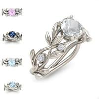 Branch Elven Crystal Diamond Ring Flower Cubic Zirconia Ring Anello Anello di nozze Gioielli moda Donne Anelli Sposa Bride Will and Sandy Regalo