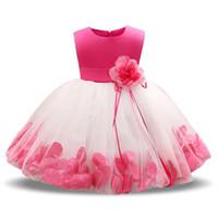 My baby girl dress 1 ano vestido de aniversário para menina batizado baptismo vestido de flor infantil vestidos de presente recém-nascido vestido infantil