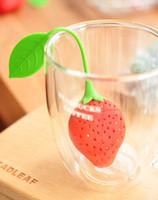 딸기 모양의 실리콘 차 주입기 스트레이너 실리콘 차 필러 가방 볼 디퍼 infusers의 strainers