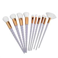Einhorn Make-up Pinsel 10 STÜCKE Make-up Pinsel Werkzeuge Tech Professionelle Beauty Kosmetik Pinsel Sets BR030
