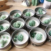 Небольшой размер суккулентные растения фондант торт силиконовые формы кактус DIY аромат гипс гипс кремния плесень свечи формы