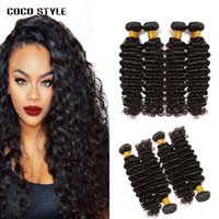 8A Deep Wave Mongolian Hair Weave Natürliche Farbe 4 Bundles Deals 100% Mongolian Human Hair Weaving Remy Hair Extensions